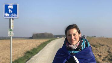 Valérie Thatcher, sur la route entre Nivelles et Waterloo