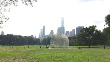 """""""Environment-Bubble, Central Park, New York City"""", 2017. François Dallegret, Dimitri Chamblas et François Perrin"""