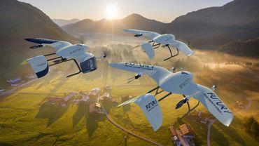 Le Wingcopter 178 peut livrer de la marchandise sur près de 100 km.