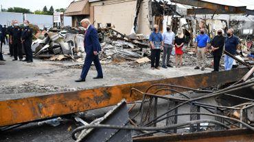Donald Trump sur des lieux sinistrés à Kenosha (Wisconsin) ce 1er septembre 2020