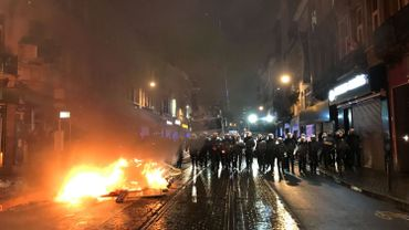 Les policiers étaients présents en nombre pour contenir les manifestants