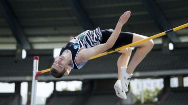 Thomas Carmoy seul participant du concours du saut en hauteur aux Championnats de Belgique d'athlétisme