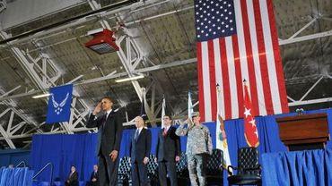 Barack Obama accueille le drapeau américain de retour d'Irak