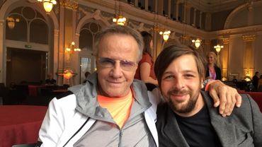 Christophe Lambert et Antoine de Bary au FIFF en 2019