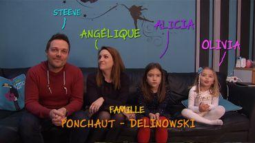 La famille Ponchaut-Delinowski et son menu de fête !