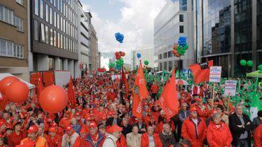 Réforme des pensions: le front commun syndical attend plus de 10.000 manifestants le 2 octobre à Bruxelles