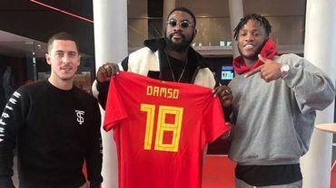 Eden Hazard et Michy Batshuayi avec Damso