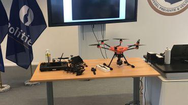 Deux des drones acquis par Bruxelles Prévention et Sécurité