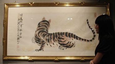 """Tiger"", une oeuvre de l'artiste chinois Qi Baishi"