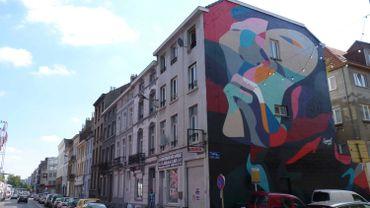 Fresque de Sozyone rue Poincaré, Bruxelles