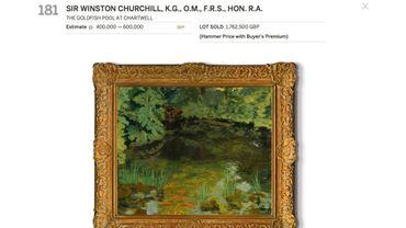 """""""Le bassin de poissons rouges à Chartwell"""" de Winston Chruchill"""