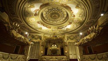 Le théâtre du château de Chimay où Frosti accueille les visiteurs