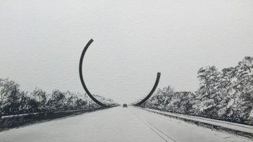 L'Arc Majeur, une oeuvre monumentale de l'artiste français Bernar Venet