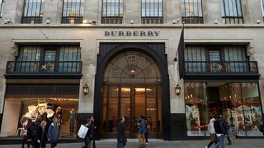 Le magasin Burberrry à Regent Street à Londres, le 9 novembre 2017.
