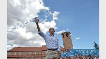 Barack Obama en meeting électoral à Boulder, dans le Colorado, le 2 septembre 2012