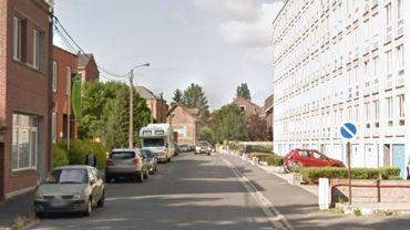 La rue de l'hôpital à Gilly
