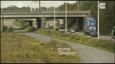 Berme centrale de l'autoroute E19
