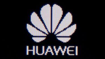 Le logo de Huawei sur un écran, à Pékin le 29 mai 2019