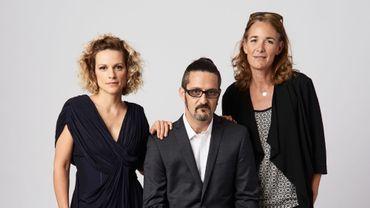 """Veerle Baetens, Olivier Masset-Depasse et Anne Coesens, lors de la présentation de """"Duelles"""" au Toronto International Film Festival"""