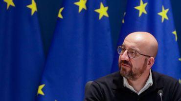 Le président du Conseil européen, Charles Michel, en visite en Libye