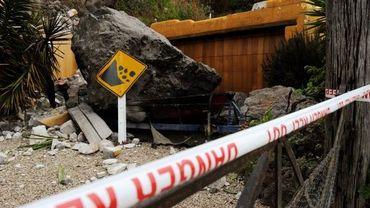 Illustration - éboulement après le tremblement de terre à Christchurch