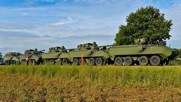 Collision en chaîne de cinq véhicules blindés belges