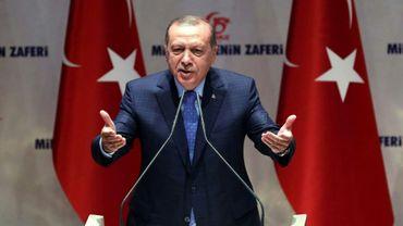 Le président turc Recep Tayyip Erdogan, le 12 juillet 2017 à Ankara