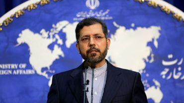 Le porte-parole du ministre des Affaires Etrangères iranien pendant une conférence de presse à Teheran le 22 février 2021.