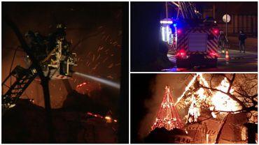 Jodoigne: important incendie au château de Dongelberg (photos et vidéos)