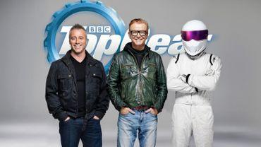 Matt LeBlanc, Chris Evans et le Stig au générique de Top Gear.