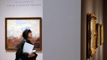 """Parmi les autres pièces majeures, le tableau """"Untitled XXI"""" du Néerlandais Willem de Kooning (1976) est parti à 24,89 millions de dollars"""