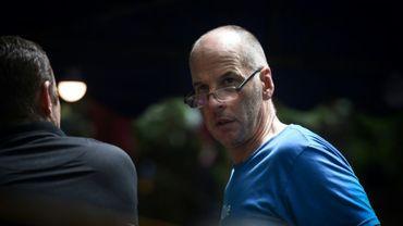 Richard Stanton, un Britannique expert en plongée de grotte, près de la grotte de Tham Luang dans le nord de la Thaïlande, le 5 juillet 2018
