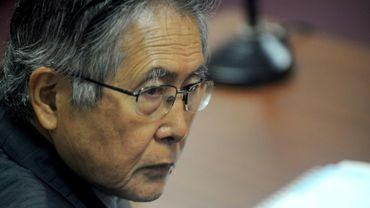 L'ex-président péruvien Alberto Fujimori, le 30 septembre 2009 pendant son procès à Lima