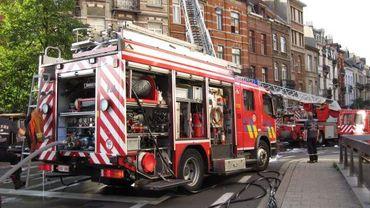 Des pompiers au travail à Bruxelles