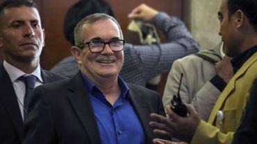 """Le chef de l'ancienne guérilla colombienne des FARC, Rodrigo Londono, dit """"Timochenko"""", a demandé pardon lors de son procès."""