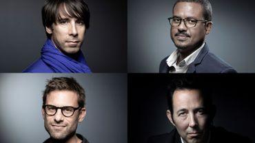 Les 4 derniers auteurs en lice pour le Goncourt : Paul Greveillac, David Diop, Nicolas Mathieu et Thomas Reverdy
