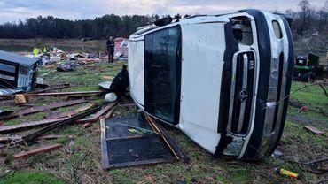 Après la passage d'une tornade dans le sud des Etats-Unis le 12 janvier 2020