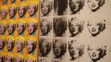 La rétrospective Andy Warhol de la Tate Modern présente notamment cette oeuvre bien connue de l'artiste, autour de la figure de Marilyn Monroe