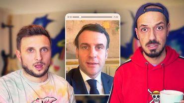 Les deux vidéastes racontent n'avoir d'abord pas cru à la proposition du président français