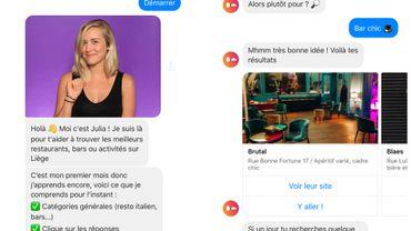 Le robot Hola Julia vous conseille des bonnes adresses comme le ferait un ami sur Messenger