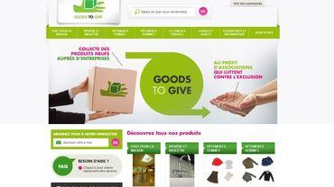 Sur le site de Goods to give, les associations partenaires peuvent passer commande des produits d'hygiène ou autres dons disponibles. Elles peuvent choisir entre aller chercher elles-mêmes ou demander la livraison. Un système efficace et simple.