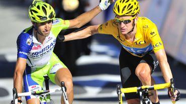 Vincenzo Nibali  et Bradley Wiggins sur le Tour 2012