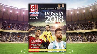 Un supplément Coupe du Monde du Ciné Télé Revue avec les journalistes de la RTBF