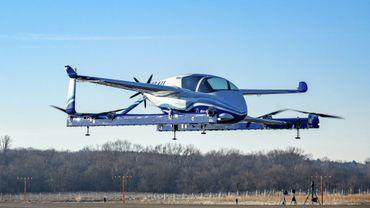 """Prototype de la """"voiture volante"""" de Boeing photographié le 22 janvier"""