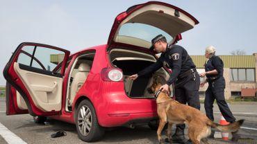 Contrôle anti-drogue à la frontière belgo-néerlandaise