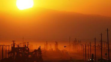 Un puits de pétrole de schiste dans la formation de Monterey en Californie, en 2014