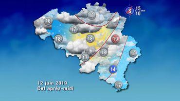 La pluie de retour ce mercredi, davantage sur le nord que le sud