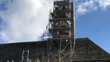 La rénovation du clocheton est déjà en cours