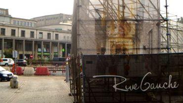 Les colonnades, en arrière-plan, devraient être démolies dans le cadre du projet de centre commercial Rive Gauche