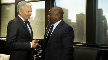 Recontre entre Didier Reynders et Joseph Kabila le 24 septembre 2013 à New York.